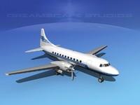 propellers convair 340 3d lwo