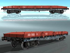 3d model rail platform m13-h453