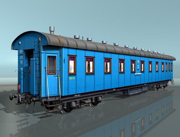 3d passenger rail car model