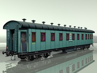 carriage passenger car rail 3d model