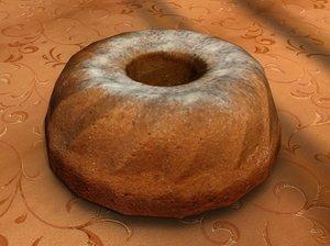 3d model of bundt cake