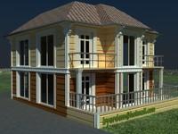 3d exterior villa model