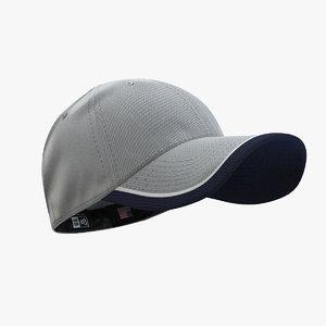 - cap gray 39 3d model