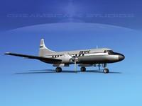 propellers convair 340 charter 3d max