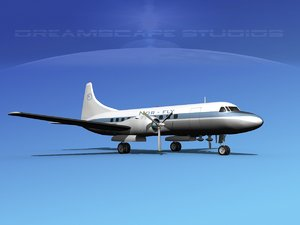 3d model of propellers convair 340