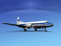 3d model propellers convair 340