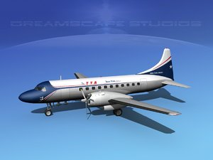 propellers convair 340 3d max
