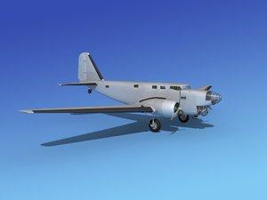 3d model of douglas b-18 bolo bomber