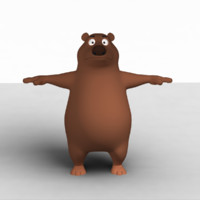 cartoon animation 3d model