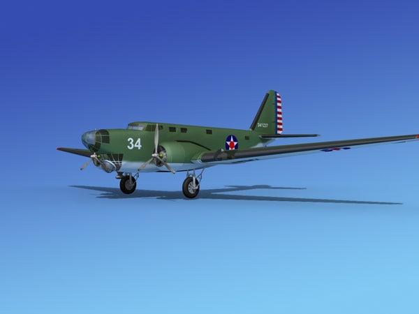 3d model douglas b-18 bolo bomber
