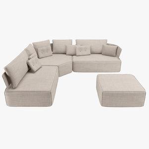 3d sofa fama pandore model
