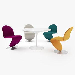3d verpan 123 dining chair model