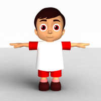 3d cartoon animation model
