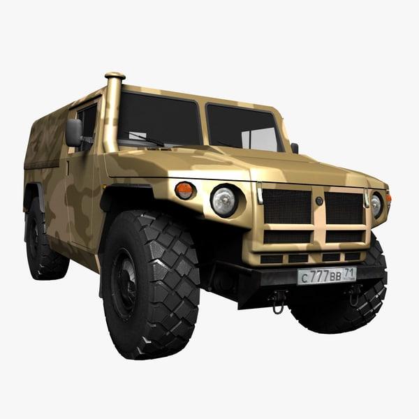 3d pickup tiger gaz model
