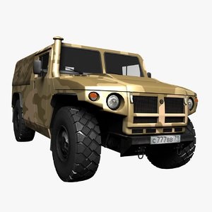 3d pickup tiger gaz model