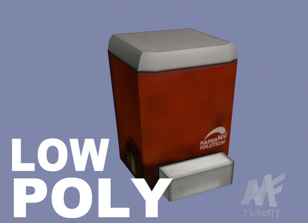 3d model industrial soap dispenser