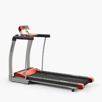 3d rojo treadmill
