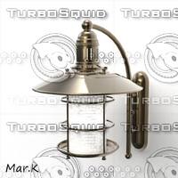 3d model boat lamp