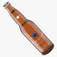 beer bottle amber 3d model