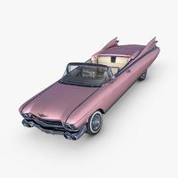 cadillac eldorado 1959 pink 3d max