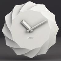 wall clock lemnos 3d max