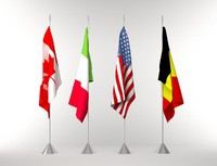 flags pole 3d max