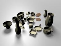 tablewares kitchen 3d model