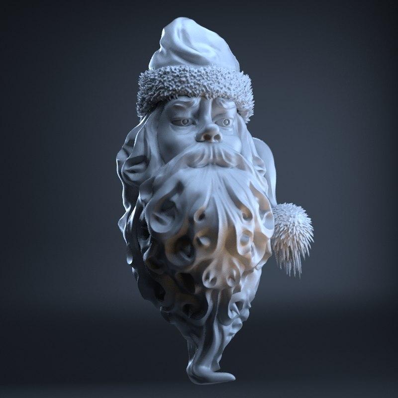 head santa claus obj