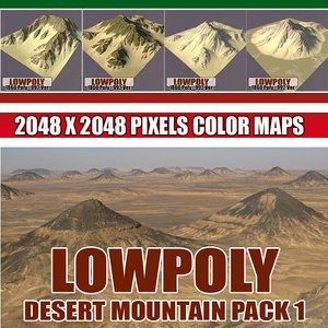 3d model mountain games terrain
