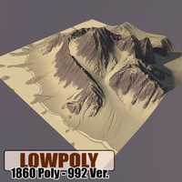 mountain games terrain 3d model