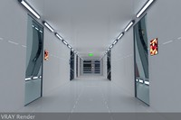 Ultra Modern Futuristic Data Center