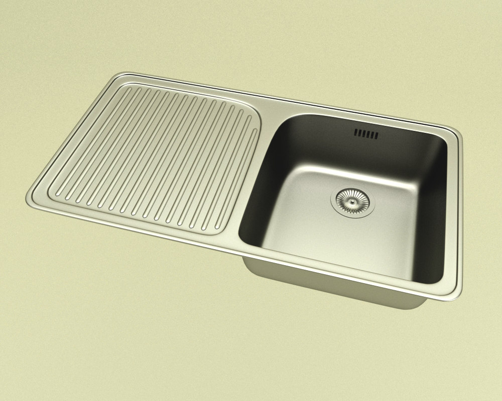 3d stainless steel sink