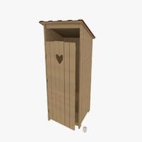 3d model latrine toilet