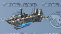 3ds sci-fi battleship
