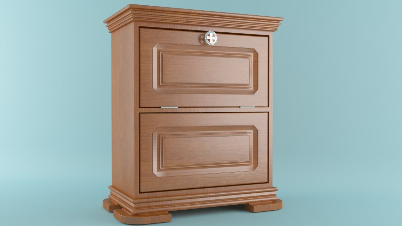 3d max nightstand mini-bar