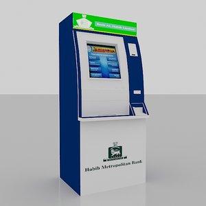 bank atm kiosk 3d max