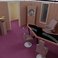 Enterprise D Captain's Office