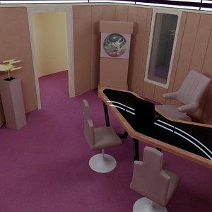 3d captain s enterprise d model