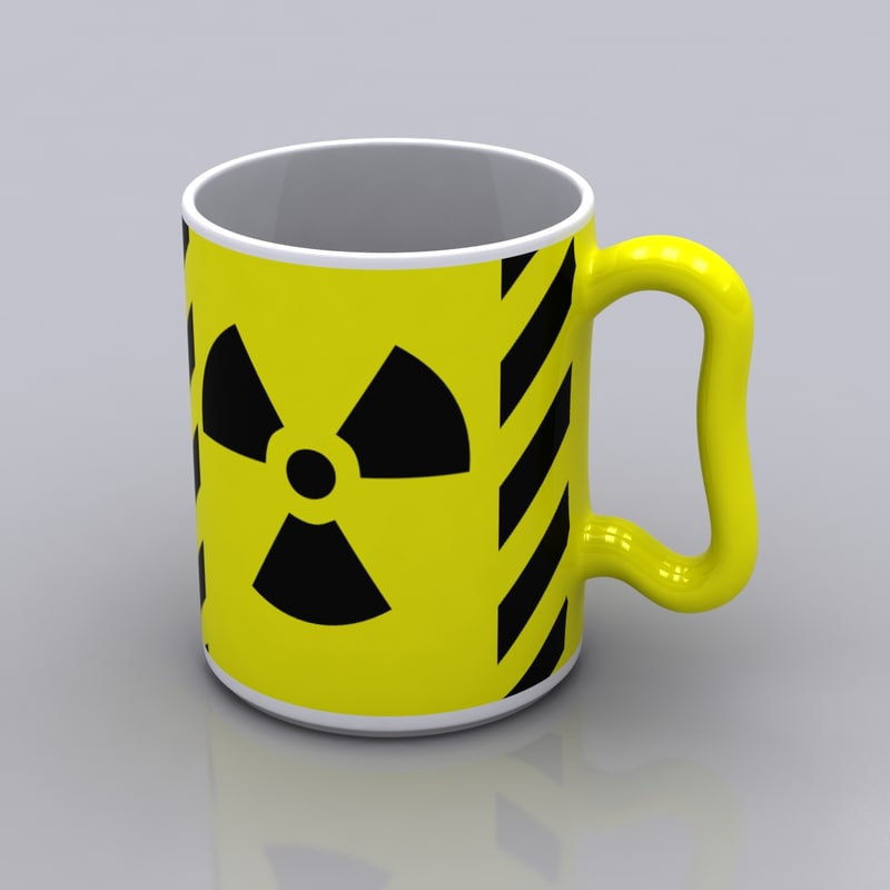 3d model radioactive coffee mug