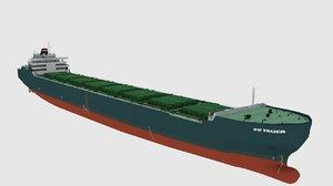 3d cargo ship bulk
