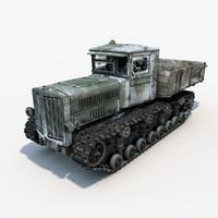 3ds max soviet artillery tractor