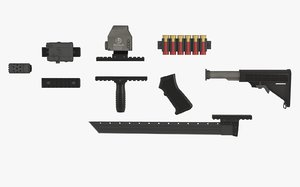 3dsmax weapon attachments