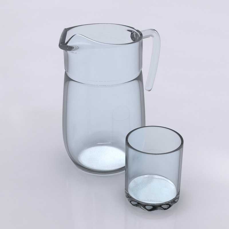 pitcher glass 3d max
