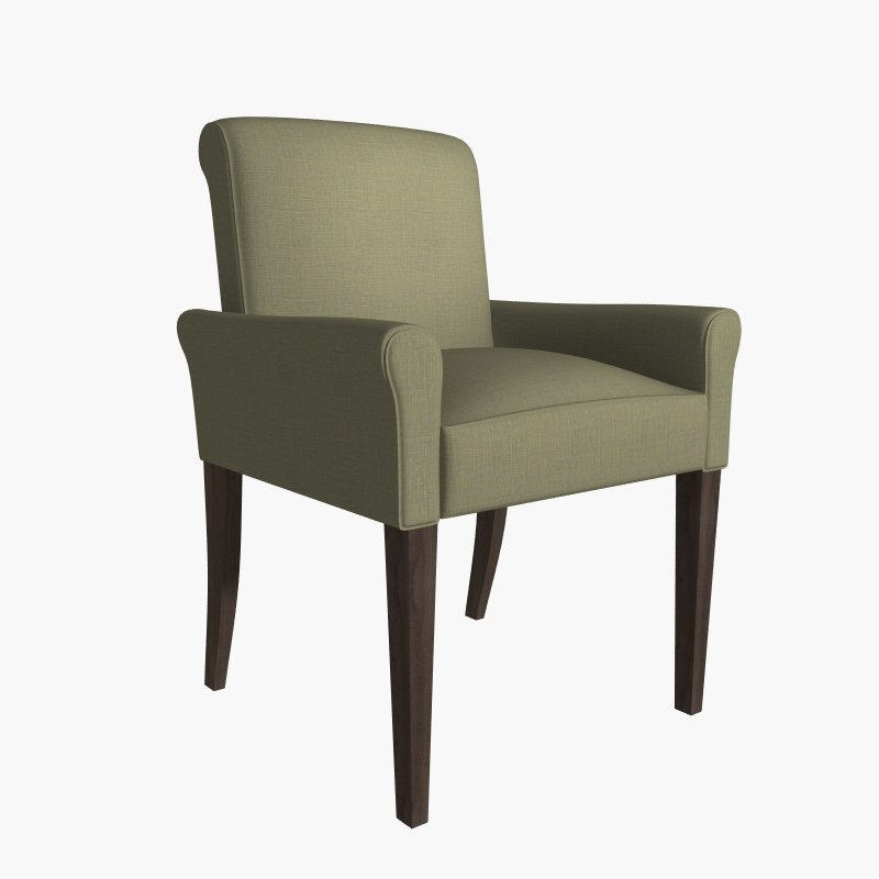 3d max restaurant armchair bergamo