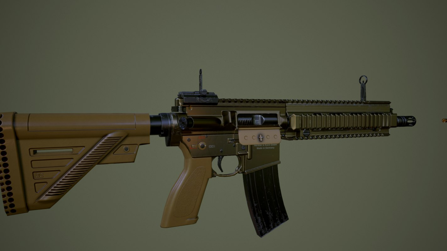 heckler koch a5 3d model