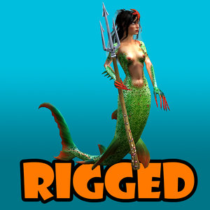 3d mermaid girl