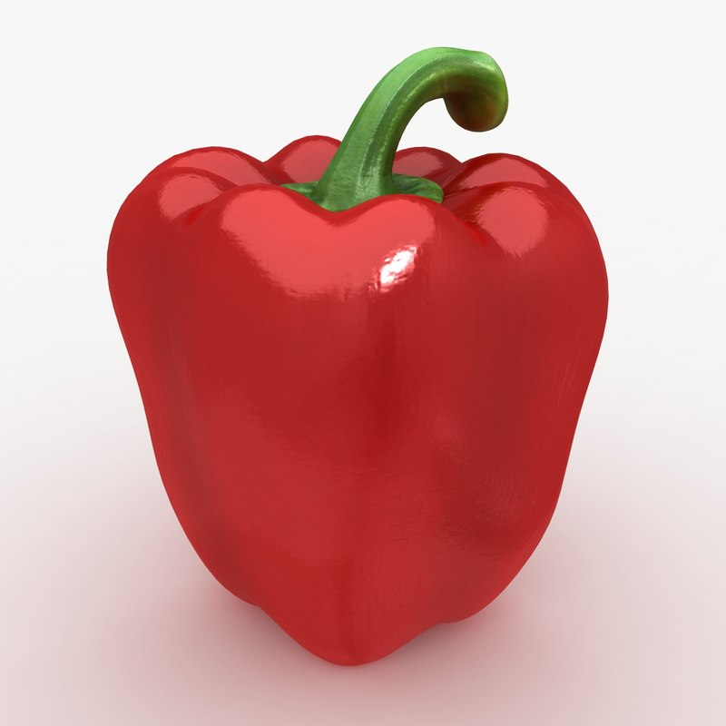 3ds max realistic pepper red