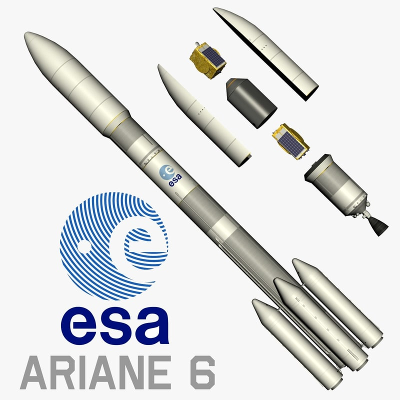 3d ariane 6 model