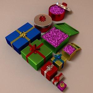3d model gift presents