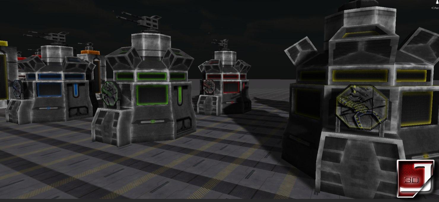 3d model bug assault buildings